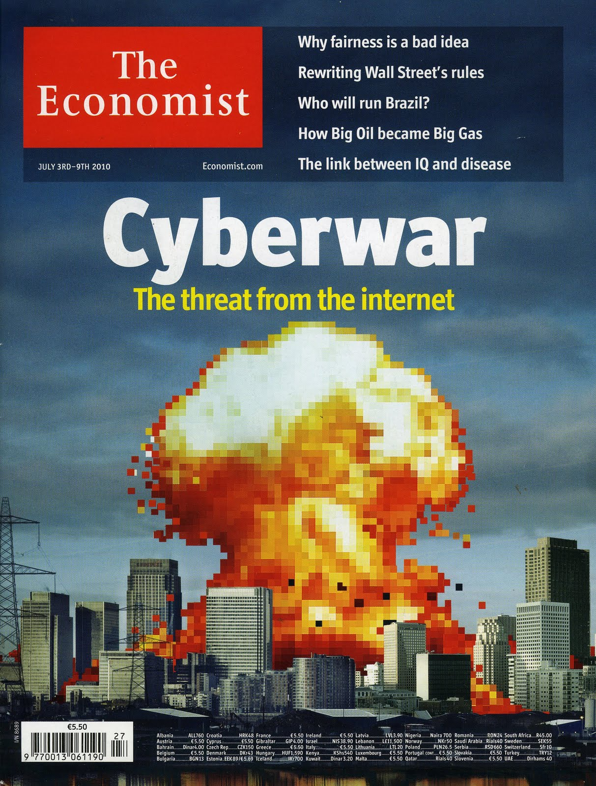 The Economist cover cyberwar